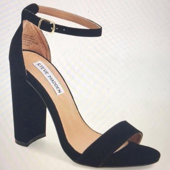 e4b3efec08ff Steve Madden Carrson Suede Block Heel Sandals. M 5b5fe5e112cd4aca94e44473
